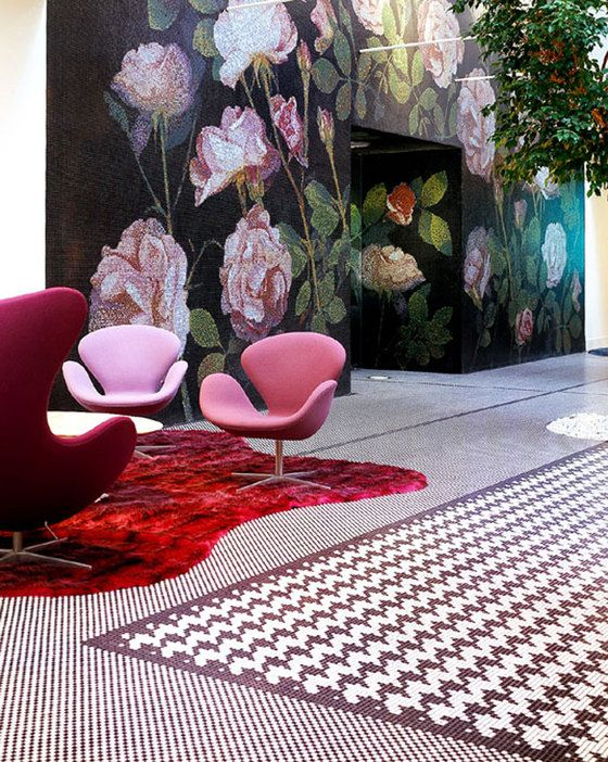 Bisazza headquarters! By Studio Carlo Bianco. Bisazza mfr the most astounding mosaics, go and check them out- I'm a big fan.
