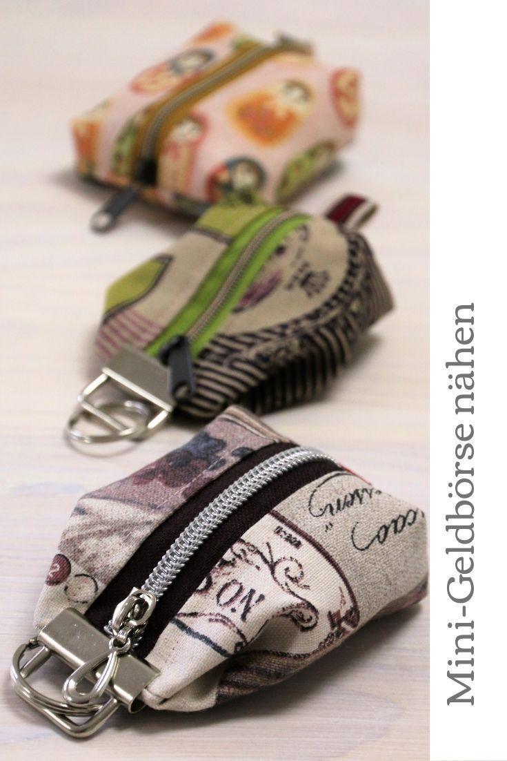 Mini Geldbörse nähen: Einfache Anleitung ohne Schnittmuster