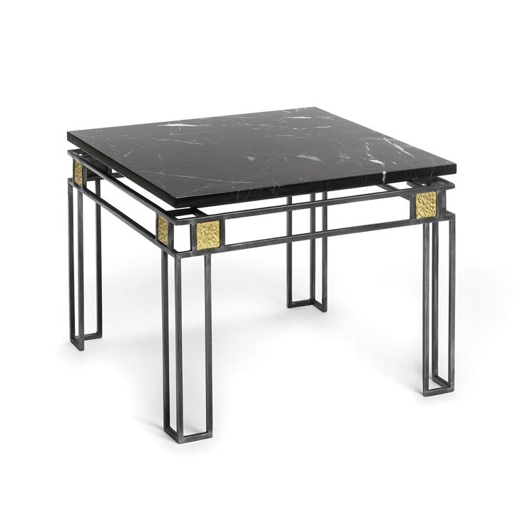 Delisle, bronzier d'art -  Type : Gueridons & tables Style : Modern Material : Bronze & marble/stone Collection : TRIBUTE TO MACKINTOSH