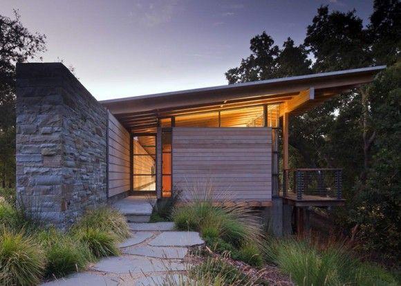 wood stone outdoor modern glass architecture Japanese Trash masculine design inspiration
