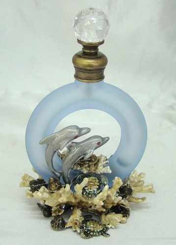 Hand Blown Glass Dolphin Perfume Bottle 53 99 Dolphins