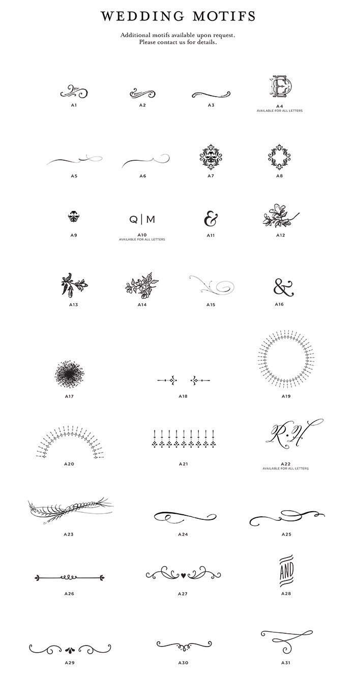 Motifs from page stationery