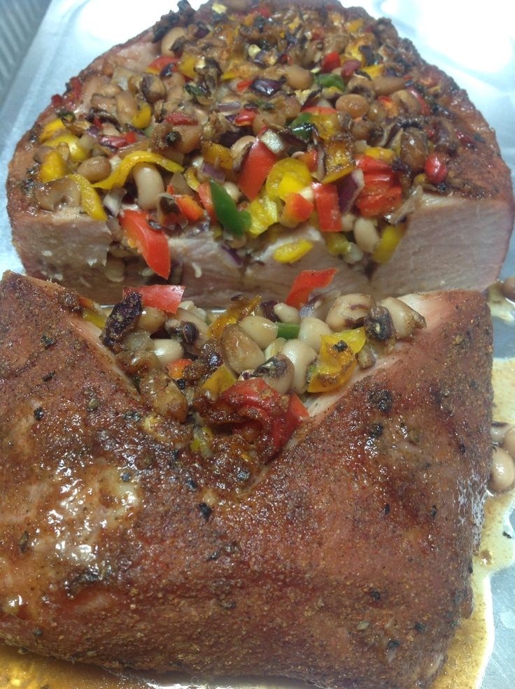 Texas Caviar Stuffed Pork Loin 1 can of black-eyed peas rinsed 1/2 ...