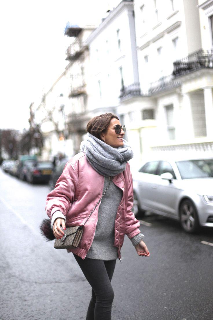 #mystyle #sweet #scarf #pink #bomber #zara #mango #fw2016