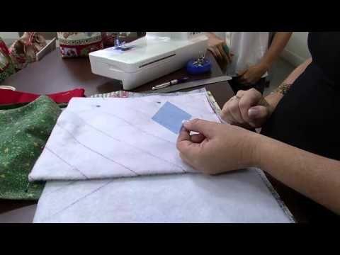 Mulher.com 21/11/2014 - Bolsa porta panetone Patchwork por Maura Castro - YouTube