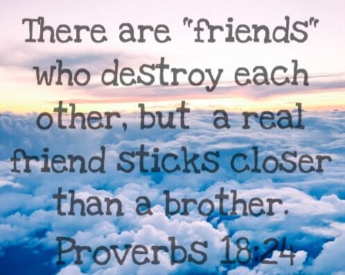bible verse about friendship and real friends Proverbs 18:24