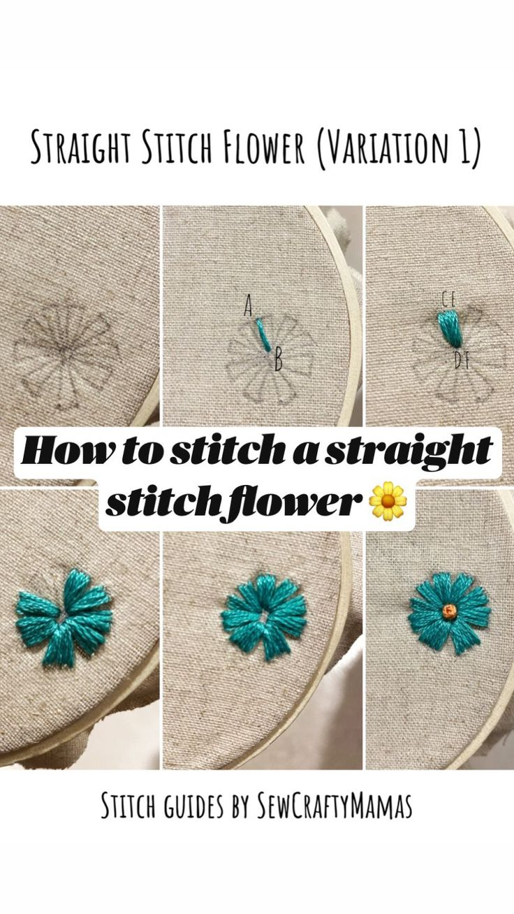 Best Flower Embroidery Stitches, Diy Easy Embroidery, Diy Embroidery For Beginners, Hand Embroidery Patterns Flowers, Stitching Patterns, Embroidery Stitches Tutorial, Embroidery Flowers Pattern, Learn Embroidery, Embroidery Patches
