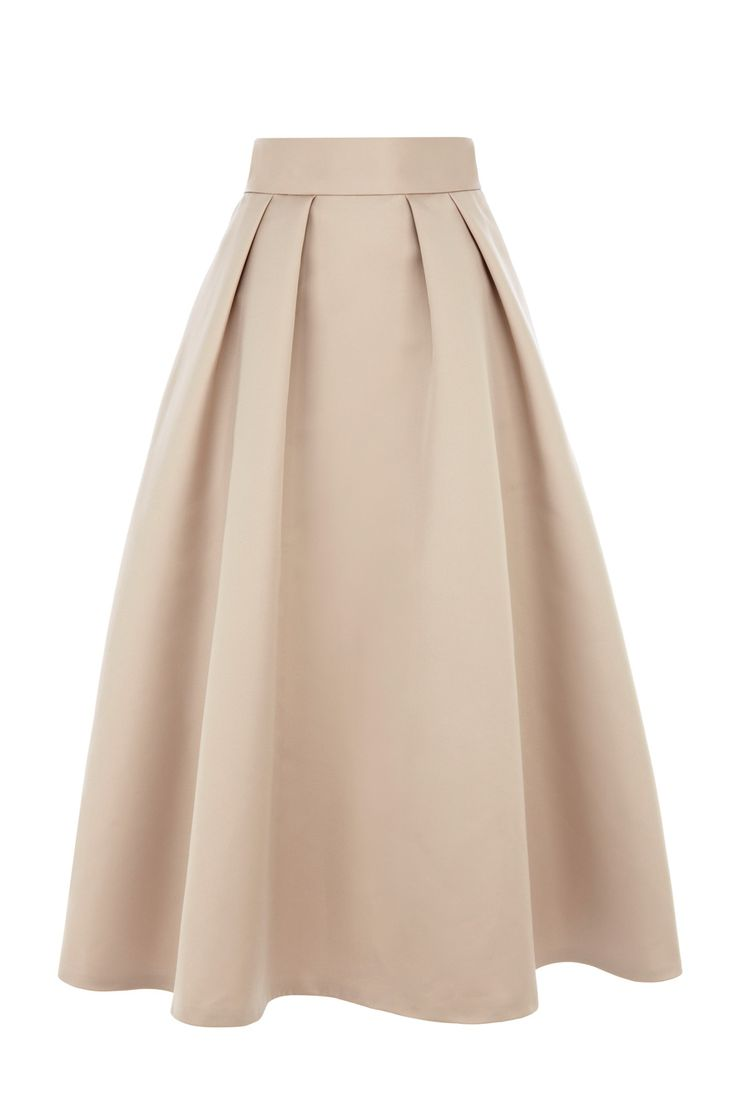 This glamorously designed catwalk inspired skirt is your ideal choice for this seasons must have midi length! Crafted from our exclusively made Duchess Satin the Meslita skirt features exaggerated fullness given by the tulle underlay and a waistband that cinches you in at the waist. Fully lined for ultimate comfort the skirt is closed with a concealed back zip. This skirt is 35.5 inches/ 90cm in length form waist to hem. Keep all the attention on the skirts fullness by wearing your top…