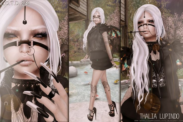 Blog: http://corpusodelicti.blogspot.com/2015/04/249-lotd.html FLickr: https://www.flickr.com/photos/thalialupindo Blog FB: https://www.facebook.com/CorpusDelictiBlog  Pinterest: http://www.pinterest.com/thalialupindo/ Twitter: https://twitter.com/REALDeadwoman SLX Connect: https://slxconnect.com/index.php?a=profile&u=thalialupindo Plurk: http://www.plurk.com/ThaliaLupindo DeviantArt: http://corpus0delicti.deviantart.com/ Tumblr: http://thalialupindo.tumblr.com