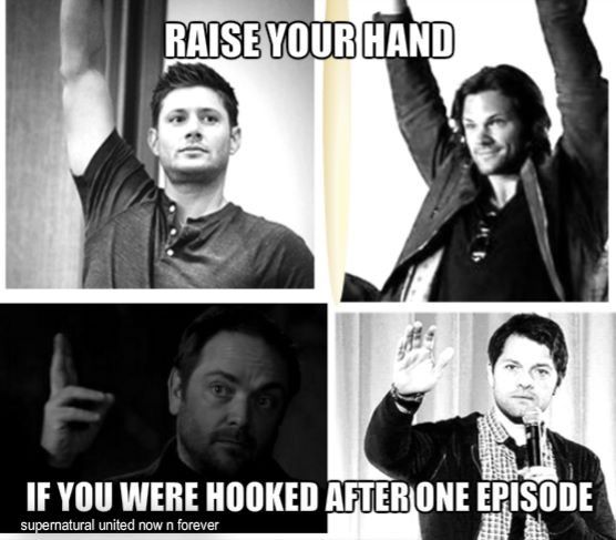 Supernatural<<UMMMM, EXCUSE ME? what about being hooked BEFORE watching an episode coz of tumblr???