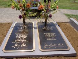 "Johnny Cash & June Carter Cash Country singer, musician, actor, entertainer. ""The Man in Black"" Headstones are Solid Bronze Grave Covers with Granite Base."