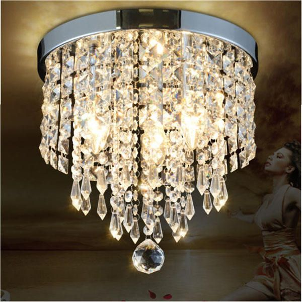 Pendant Ceiling Lamp Crystal Ball Fixture Light Chandelier Flush Mount Lighting