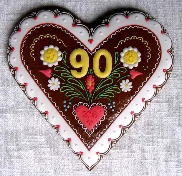 srdíčko - gingerbread heart cookie (Czech)