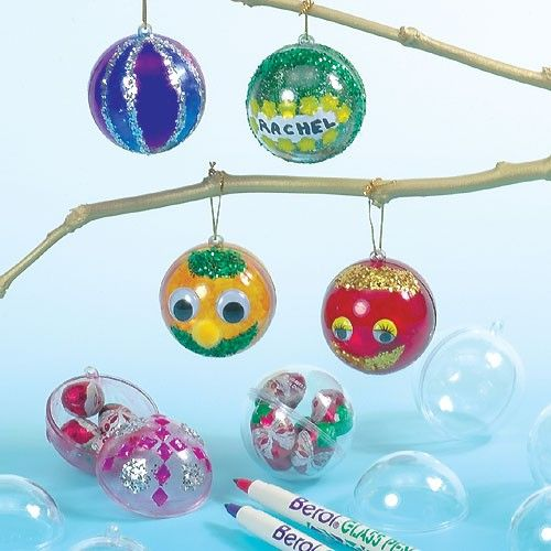 Clear Plastic Baubles to Fill and Decorate  sc 1 st  Pinterest & 62 best Crafting with Clear Baubles images on Pinterest | Christmas ...