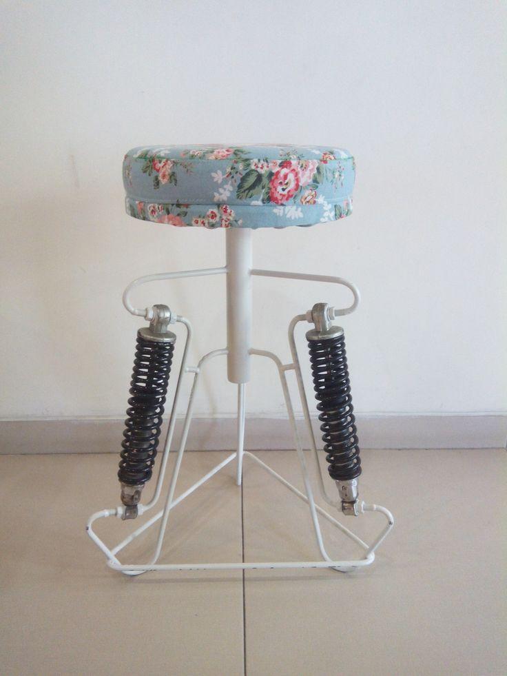 nyoba buat kursi dr shock bekas gl pro dan sisa kain kanvas