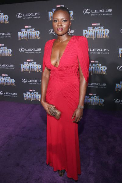 Actor Shaunette Renee Wilson at the Los Angeles World Premiere of Marvel Studios' BLACK PANTHER at Dolby Theatre on January 29, 2018 in Hollywood, California.