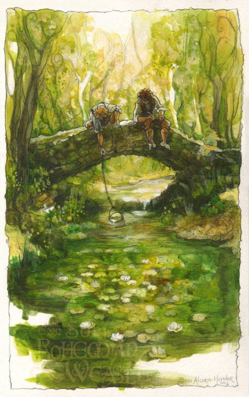 Sam & Frodo in the Shire  by Soni Alcorn-Hender.  #onelasttime