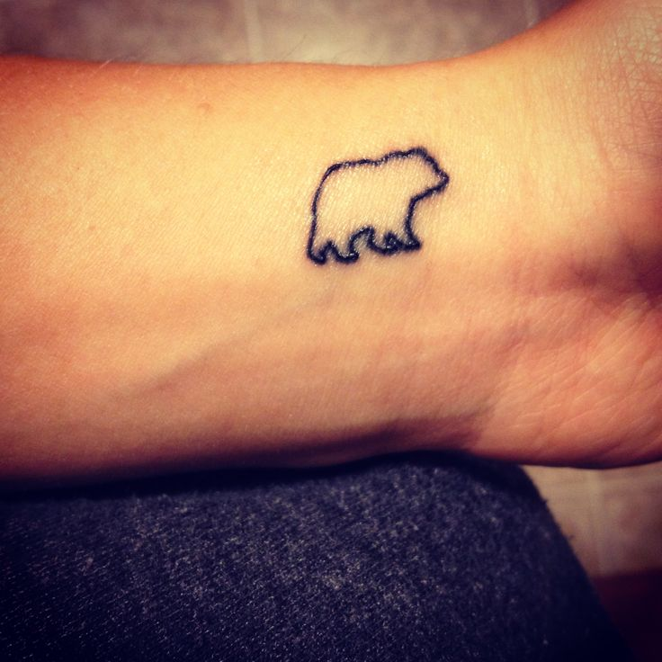 Bear tattoo? My dad would call me at the office and I would answer 'this is [my name]' and he would say 'this is papa bear'... xoxo miss him