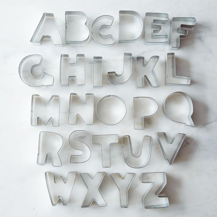 Alphabet Cookie Cutter Set on Food52