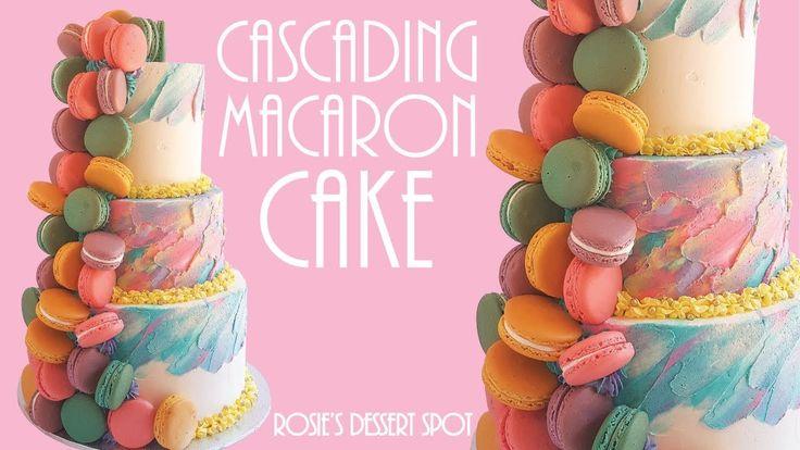 Cascading macaron rainbow cake rosies dessert spot