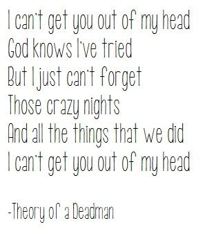out of my head - theory of a deadman