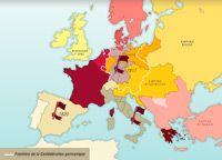 Carte Europe des nations congrés de Vienne 1815 trois glorieuses 1830 1848