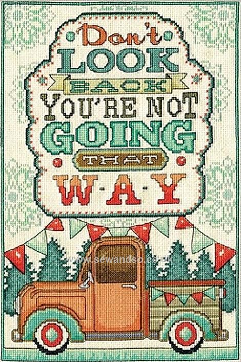 Buy Don't Look Back Cross Stitch Kit Online at www.sewandso.co.uk