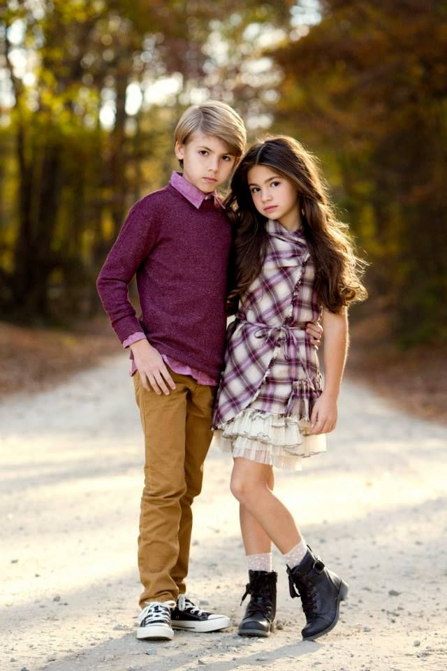"""Brooke and Tyler """"In Style"""" Models of the Month winners for Child Model Magazine."""