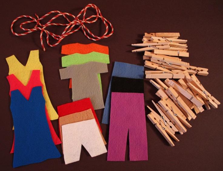 Preschool Activity Felt Clothesline Busy Bag  #handmade  #thecraftstar  $10.00