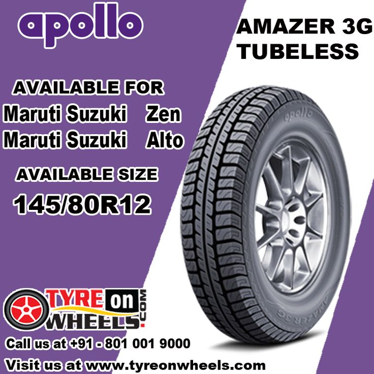 Buy Car Tyres Online of Apollo Amazer 3G Tubeless for Maruti Zen Size 145/80R 12 and also get fitted by Mobile Fitting Vans at doorstep as their official all India online partner Buy now at http://www.tyreonwheels.com/tyres/Apollo/AMAZER-3G/1343