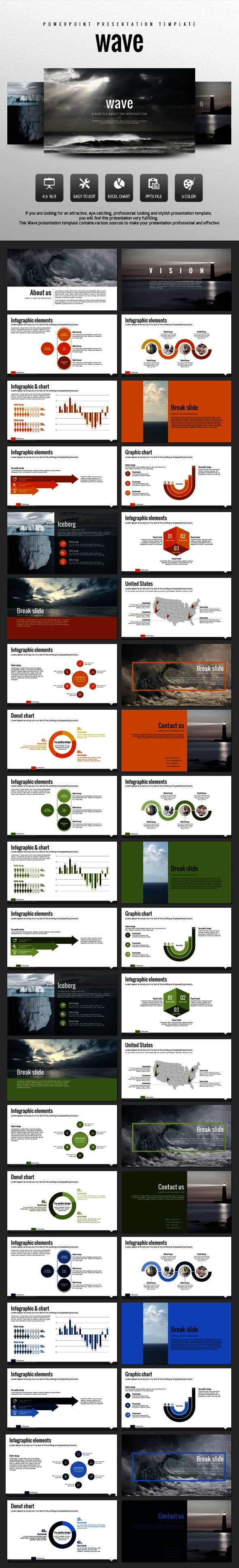 PowerPoint Template #design #slides Download: http://graphicriver.net/item/wave/13001534?ref=ksioks