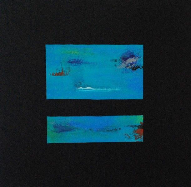 Inmerso en tus profundiddades II (Inmerse in your depths II) Acrylic on canvas 12×12