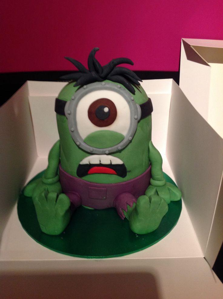Hulk Minion Birthday Cake Birthday 8 Pinterest