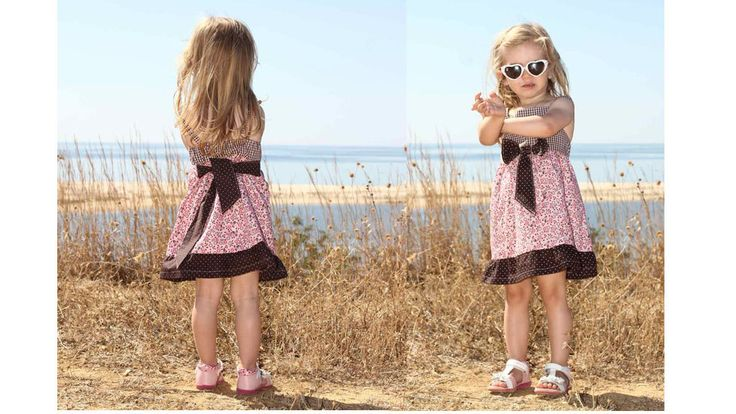 ALINA bow dress PDF sewing pattern – sizes 110-152 (5-12yr) by Zierstoffpatterns on Etsy  Your daughter will love this dress! Play around with fabrics and sew your unique style! Shop now for only 5USD on ETSY  Your Zierstoff Team Ilka - Joanna - Julie