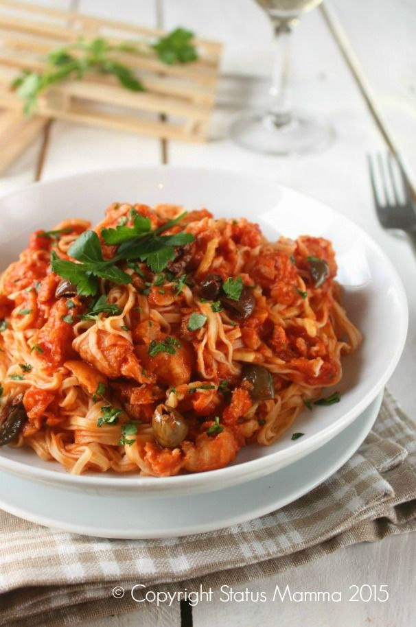 primo piatto unico con pesce veloce facile al sugo ricetta per bambini cucinare Statusmamma Gialloblogs © Copyright Status mamma 2015