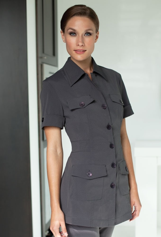 17 best images about yacht uniforms on pinterest yacht for Spa uniform tops