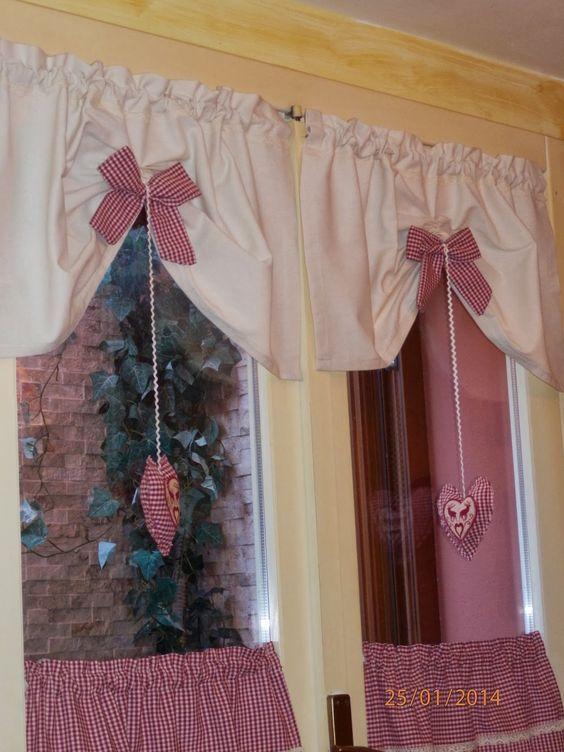 tende a finestra in stile anni 30  Cerca con Google  Curtains  Shabby chic curtains Curtains