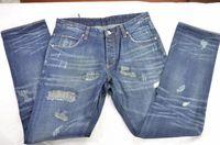 hole jeans man fashion designer brand men 100% cotton denim windproof gray breathable hot sell pocket jeans BULLTITAN