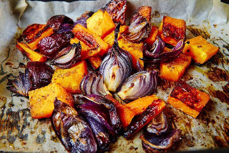 This was the roasted vegetables from my Roasted Quinoa Salad. Just looking at this picture makes me hungry!
