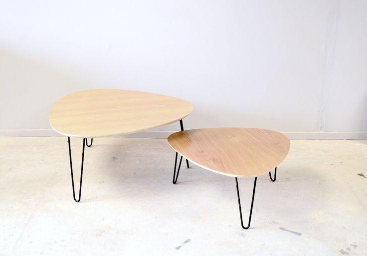 Duo Tables Basses Tripodes Gigognes Esprit Vintage