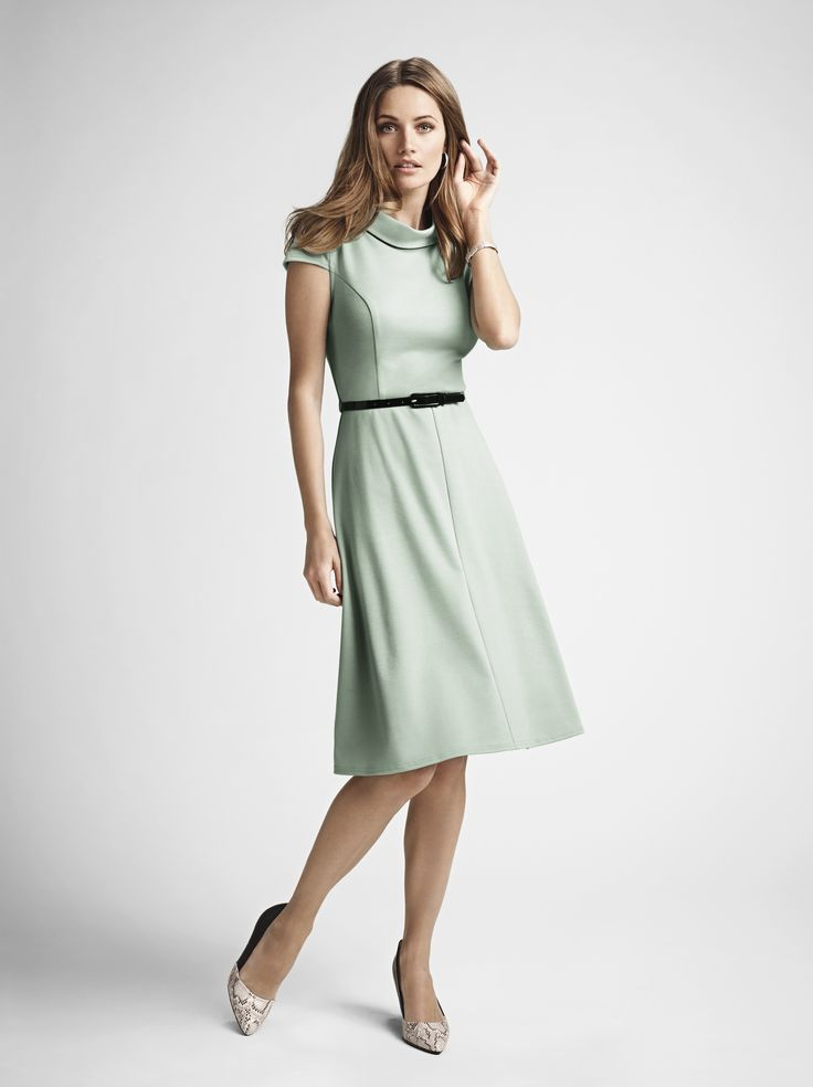 This stylish mint green fit & flare dress has been a firm favourite with the press. At just £22, it's a total steal! #SS15BHS #SS15 #Dress #Pastels