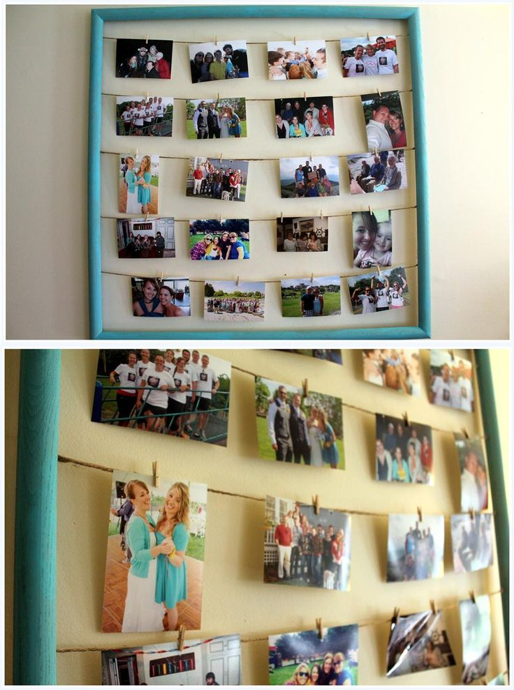 diy photo frame - good for the gallery in hall... Interchangeable photos.. This is happening
