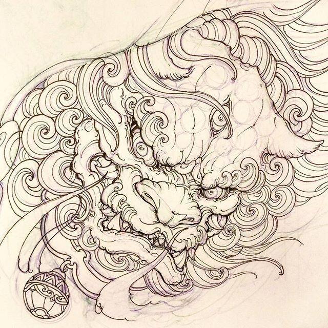 Pin By Koh Yongjie On Tattoo Foo Dog Tattoo Design Foo Dog Tattoo Japanese Tattoo Art