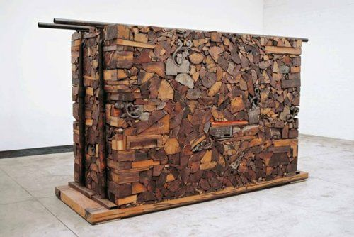 Ai Weiwei                                            iron wood (Tieli wood) from dismantled temples of the Qing Dynasty (1644-1911) and iron parallel bar
