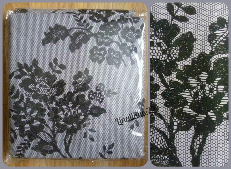 """BNIP NEXT Black Lace Print Blackout Lined Pencil Pleat Curtains 168x137cm 66x54"""""""