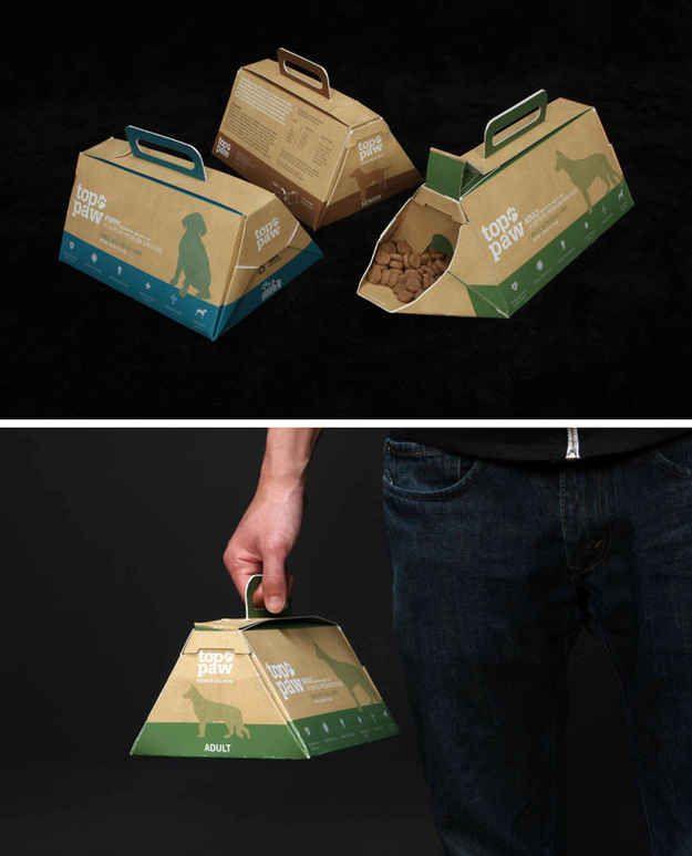 Paquetes de comida de perro para que puedas llevarla a cualquier lado y usarla sin necesidad de un bol.