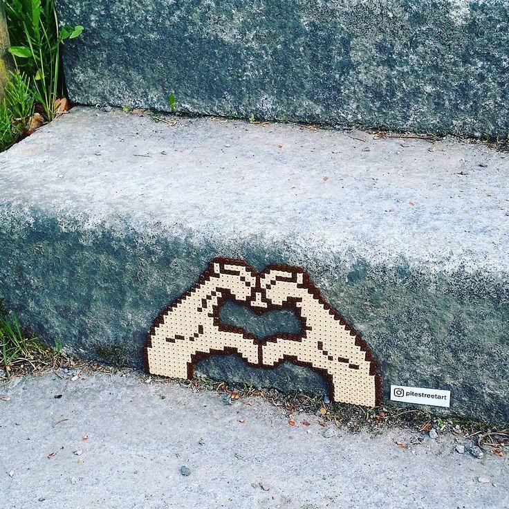 Love perler street art by pitestreetart