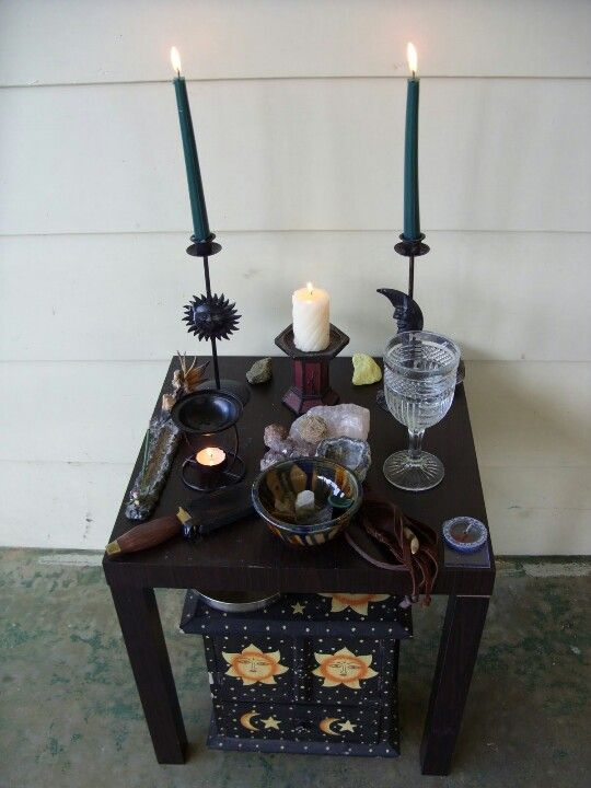I like this idea, a table with a chest beneath