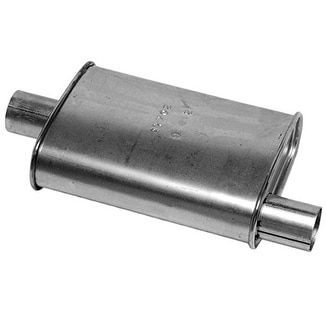 Walker 17702 High Performance Muffler, Silver aluminum