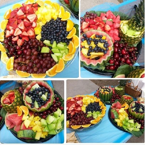 fruit table display coconut fruit or vegetable